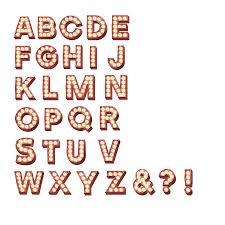 original retro cinema marquee letter wall stickers