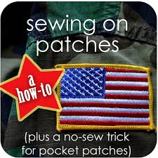 how to sew on patches plus a no sew trick for pocket patches