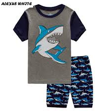 boys shark pajamas compare prices on boys shark pajamas online shark pajamas for boys acircmiddot 2017 summer boys clothes suits shark children s clothing sets cotton short sleeve t shirt shorts