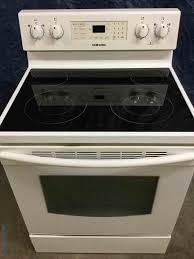 30 freestanding white glass top samsung stove oven electric clean