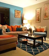 orange living room ideas exquisite decoration burnt