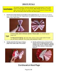 Tissue Paper Flower Instructions How To Make Tissue Paper Flowers Instructions