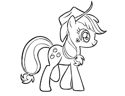 Small Picture Coloring Pages Applejack Print Little Pony Gekimoe 35012