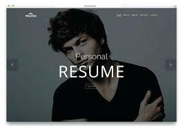 Resume One Page One Page Personal Website Template Interact Free One Page Bootstrap