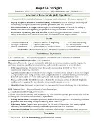 Skill Resume Format New Accounts Receivable Resume Sample Monster