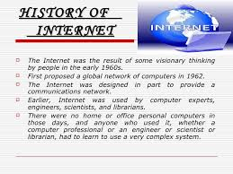 history of internet essay brief history of internet essay