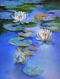 water lilies 19 painting by artist swati kale oil canvas
