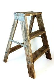 3 step wooden ladder vintage wooden step ladder vintage weathered wooden step ladder rustic by old