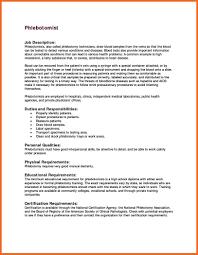 Phlebotomy Resume Sop Example