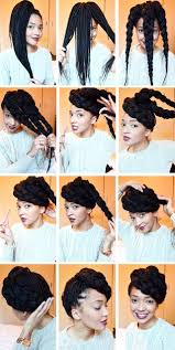 Box Braid Hair Style 10 tutorials for natural hair updos that are perfect for prom 2084 by wearticles.com