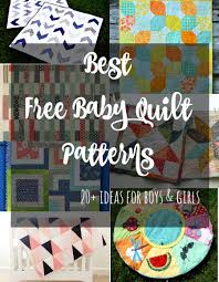 The Best Free Baby Quilt Patterns - So Sew Easy & More than 20 ideas for baby quilts. From quick and simple to more  complicated designs Adamdwight.com