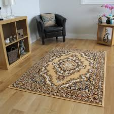 Living Room Rugs Beige Brown Persian Style Traditional Rug Small Large Xxl Mats