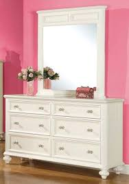 Small Mirror Dresser Crystal Handle White Dressers With Modern  Design Strong Dovetail Large Square   H69