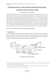 T Girder Bridge Design Example Pdf Comparative Study Of T Beam Bridge Longitudinal Girder