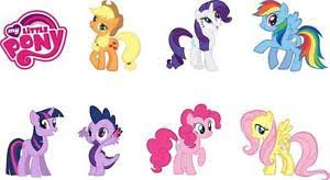 my little pony 7 characters logo decal removable wall sticker