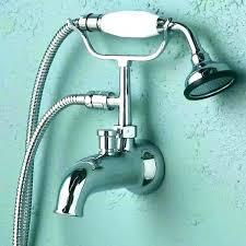 bathtub faucet with handheld shower tub roman and hand chrome adapter kohler deck mount ha