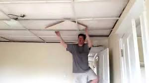 time lapse removal of drop ceiling tiles