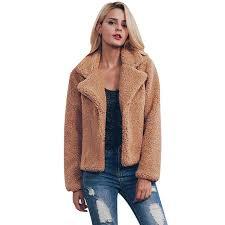 2019 plus size faux fur jacket coat women winter warm lady gy jackets long sleeve gy turn down collar outerwear 2017 overcoat from yzlwatchfine