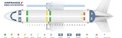 Airbus A319 Seating Chart Air France Fleet Airbus A319 100 Details And Pictures