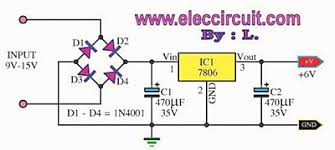 circuit diagram for 6v cfl adaptor the wiring diagram regulator 5v 6v 9v 10v 12v 1a by ic 7805 7806