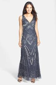 Patra Dress Size Chart Embellished Mesh Gown