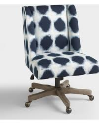 upholstered office chairs. Wonderful Office Indigo Ava Upholstered Office Chair Blue  Fabric By World Market Throughout Chairs R