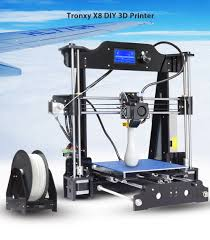 tronxy x8 220 x 220 x 200mm diy 3d printer black us plug