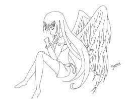 Small Picture Anime Angel Girl Coloring Pages Cartoon Download2 Cartoon