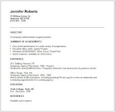 Free Resume Template T Simple Sample Of Short Resume Best Sample