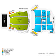 The Maryland Theatre 2019 Seating Chart
