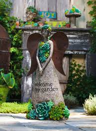 garden fairy statues. Fairy Statue In Green With Bronze Wings Garden Fairies Statues Figurines E