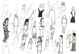 Huge Collection Of People Walking Drawing Download More Than 40