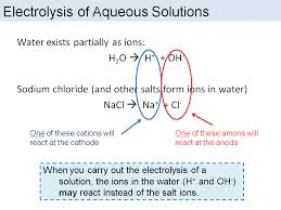 electrolysis of aqueous solutions and half reactions edexcel 9 1 combined science by chemistryteacher001 teaching resources tes