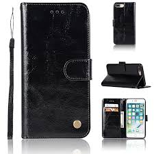 casing for apple iphone 8 plus reto leather wallet case magnetic double card holder flip