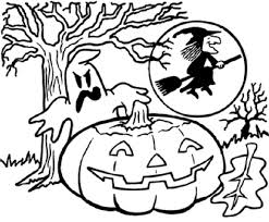 Small Picture Halloween Coloring Pages Online Children Coloring