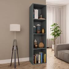 "GoolRC <b>Book Cabinet/TV Cabinet</b> Gray 14.2""x11.8""x56.3"" Chipboard"