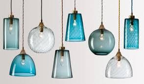 hand blown glass lighting pendants. stylish flodeau handblown glass lighting rothschild bickers 03 blue pendant lights hand blown pendants