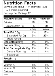 pamelas s gluten free oatmeal cookie bar mix within nutrition facts cake mix cookies nutrition facts