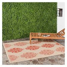 target outdoor patio rugs luxury orly rectangle 4 x 5 7 outdoor rug natural red