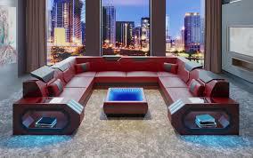 Details Zu Ecksofa Ledersofa Designer Luxus Sitz Polster Ecke Couch Wohnlandschaft H2 Blau