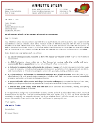 Resume Example Sample Cover Letter For Elementary Teacher Resume