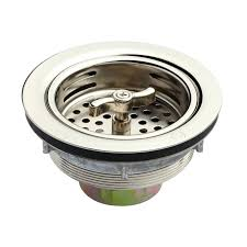 sink basket strainers polished nickel stainless steel basket strainer kitchen sink waste with overflow