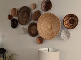wall basket wall art hanging wall baskets