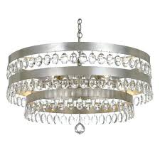 silver and crystal chandeliers lighting group antique silver eight light chandelier with clear elliptical faceted crystal silver and crystal chandeliers