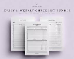 Daily Checklist Planner Daily Checklist Etsy