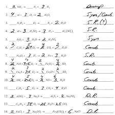 balancing chemical equations worksheets middle school worksheet answer 7 key physical science activity