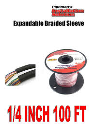 red 1 4 034 100ft braided expandable tech flex sleeve wiring click thumbnails to enlarge