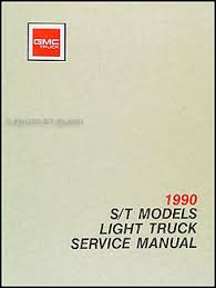 1990 gmc s15 pickup jimmy wiring diagram manual original 1990 gmc s 15 pickup jimmy repair shop manual original
