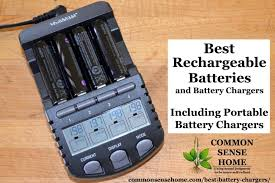 battery charger in use