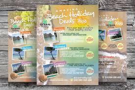 holiday travel flyers flyer templates on creative market